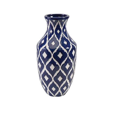 IMAX Worldwide Home - Maine Tall Blue and White Vase - 89694