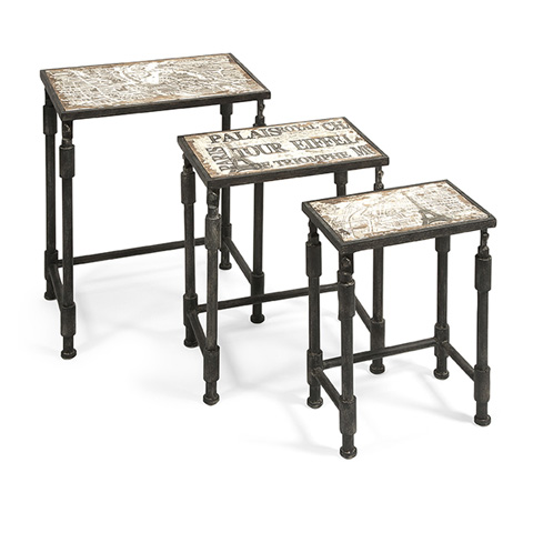 IMAX Worldwide Home - Knoxlin Nesting Tables - Set of 3 - 97249-3