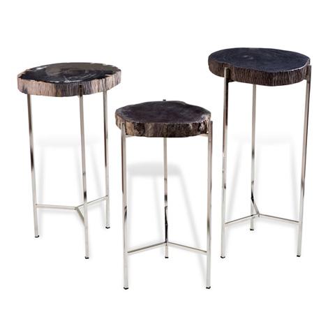 Interlude Home - Banten Petrified Wood Drink Table - 158066