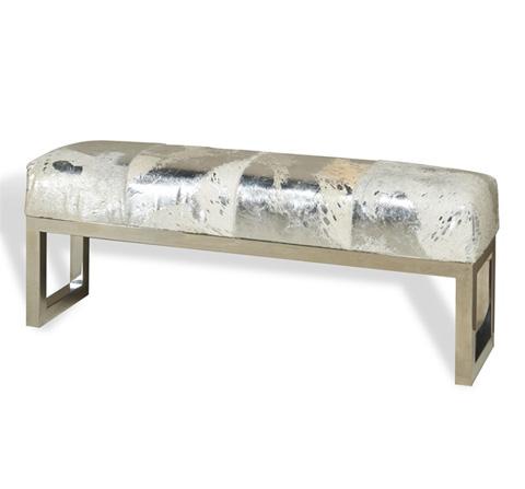 Interlude Home - Aldo Metallic Hide Bench - 175073