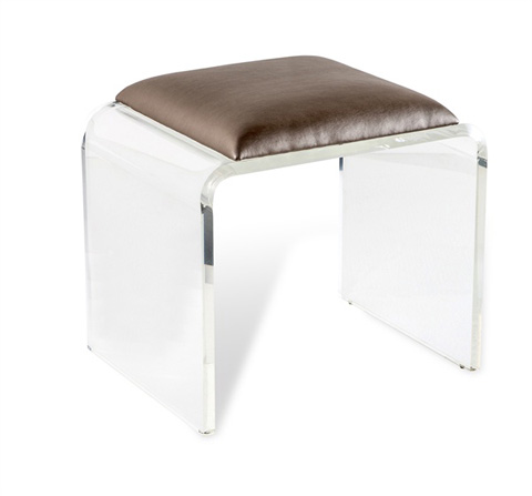 Interlude Home - Mira Acrylic Stool - 178023
