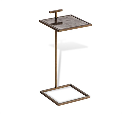 Image of Soren Square Drink Table in Brown Vellum