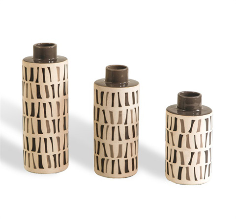 Image of Paige Tea Jars in Gray