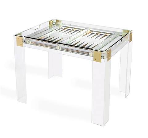 Image of Pierre Acrylic Backgammon Game Table