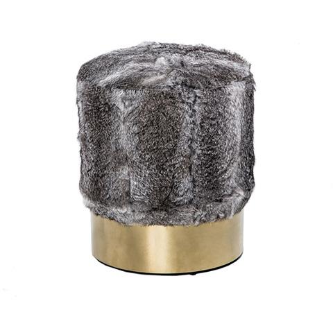 Image of Doutzen Stool in Rabbit Fur