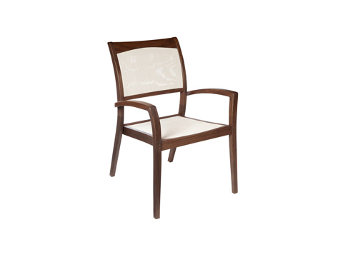 Image of Topaz Stacking Natural Sling Chair