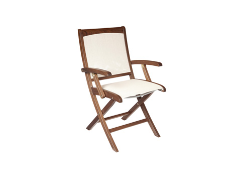 Image of Topaz Folding Natural Sling Chair
