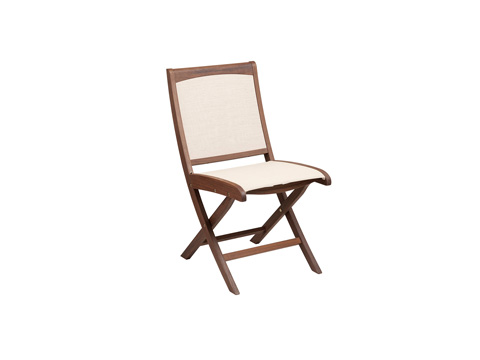 Image of Topaz Folding Natural Sling Side Chair