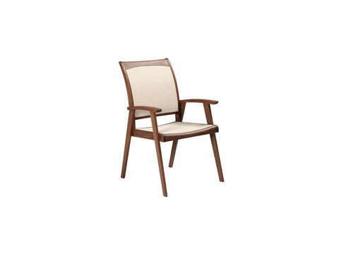 Jensen Leisure Furniture - Topaz Natural Sling Dining Chair - 6203N