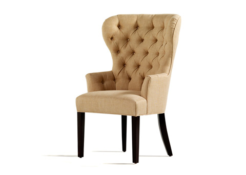 Jessica Charles - Garbo Tufted Dining Arm Chair - 1918-T
