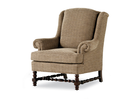 Jessica Charles - Ronson Pillowback Wing Chair - 632-P