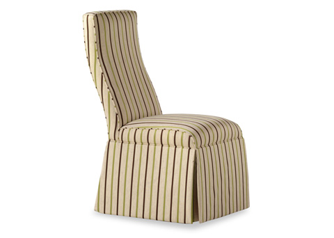 Jessica Charles - Lahaye Skirted Armless Dining Chair - 945