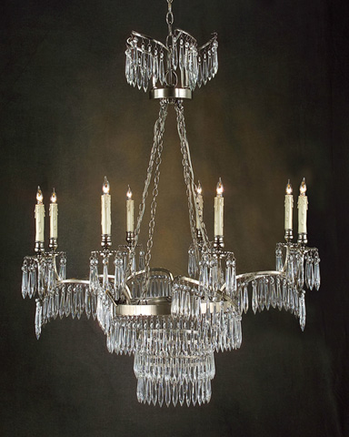 John Richard Collection - Eight Light Silver Chandelier - AJC-8531