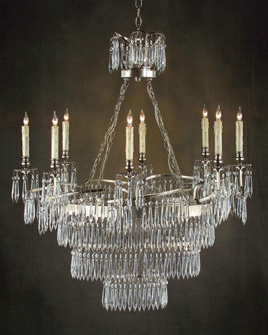 John Richard Collection - Eight Light Silver Chandelier - AJC-8533