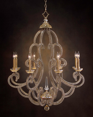 Image of Eight Light Chandelier