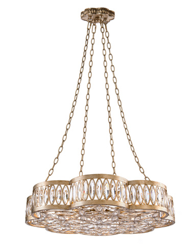 John Richard Collection - Eight Light Diamante Chandelier - AJC-8791