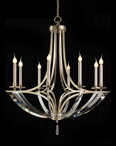 John Richard Collection - Eight Light Bent Crystal Chandelier - AJC-8832