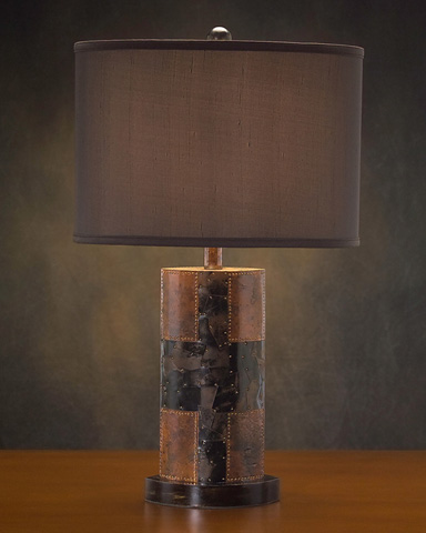 John Richard Collection - Faux Brown Stone Comp Lamp - AJL-0301