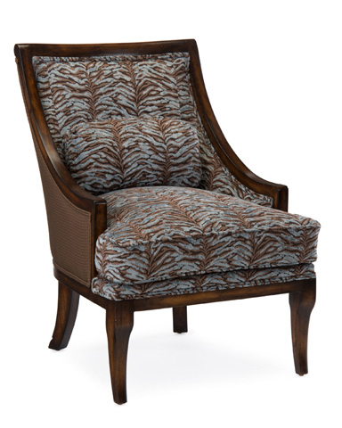 John Richard Collection - Barrel Back Chair - AMF-1005V18-F586-AS