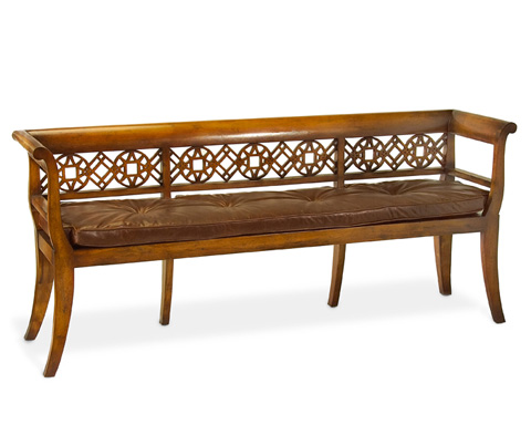 John Richard Collection - Fretwork Bench - AMF-1084V19-DSBR-AS