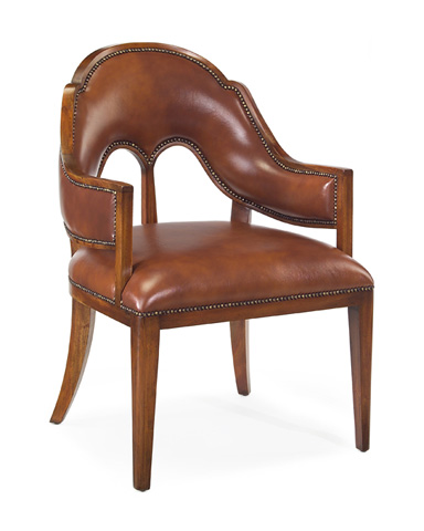 John Richard Collection - Leather Butterfly Chair - AMF-1216V33-CRML-AS