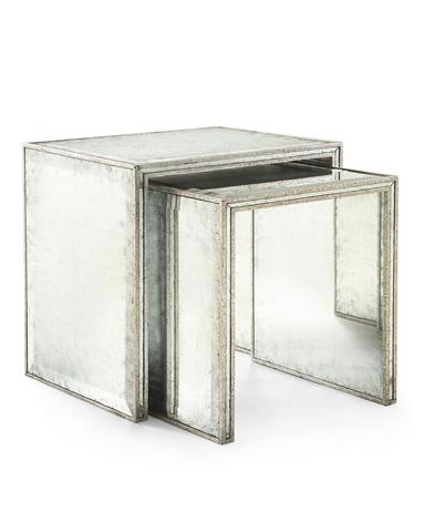 John Richard Collection - Eglomise Nesting Side Tables - EUR-03-0214