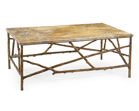 John Richard Collection - Branch Cocktail Table with Marble Top - EUR-03-0224