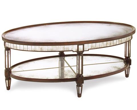 John Richard Collection - Keswick Oval Cocktail Table - EUR-03-0307
