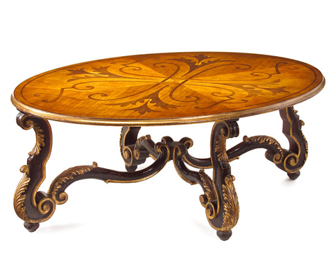 John Richard Collection - Delchamps Oval Cocktail Table - EUR-03-0320