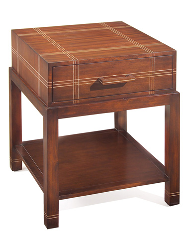 John Richard Collection - Attache Plaid Side Table - EUR-03-0325