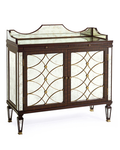John Richard Collection - Rosewood and Eglomise Bar Cabinet - EUR-04-0048