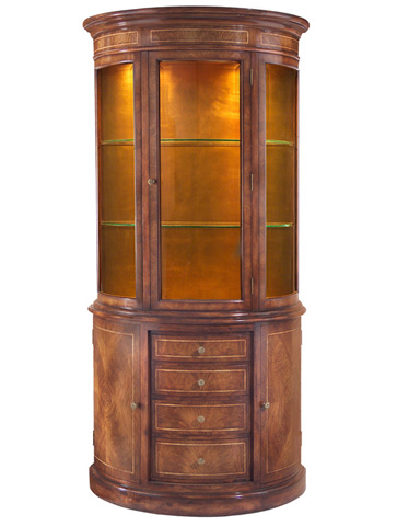 John Richard Collection - Dorchester Demilune Display Cabinet - EUR-04-0132