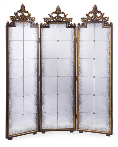 John Richard Collection - Antique Gold Mirrored Screen - EUR-08-0007