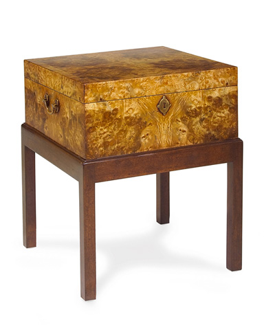 John Richard Collection - Camphor Wood Square Box with Stand - EUR-08-0015