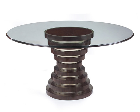 John Richard Collection - Hourglass Table with Glass Top - EUR-10-0030