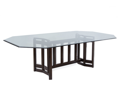 John Richard Collection - Smoked Dining Table - EUR-10-0042