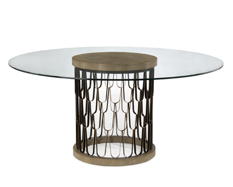 John Richard Collection - Paolo Dining Table with Glass Top - EUR-10-0049