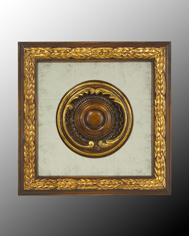 John Richard Collection - Wood Frame with Center Deco - GBG-0346A