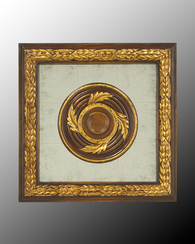 John Richard Collection - Wood Frame with Center Deco - GBG-0346C