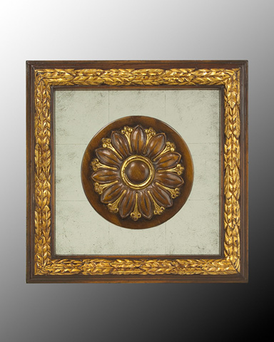 John Richard Collection - Wood Frame with Center Deco - GBG-0346D