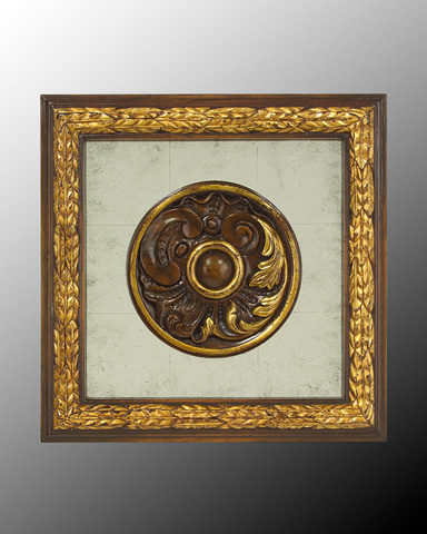 John Richard Collection - Wood Frame with Center Deco - GBG-0346F