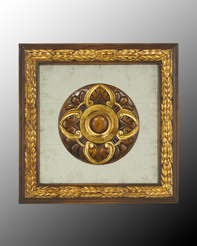 John Richard Collection - Wood Frame with Center Deco - GBG-0346H