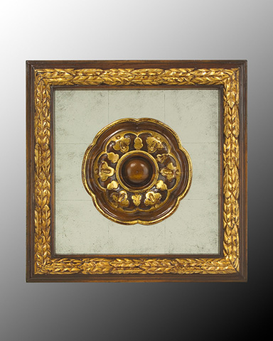 John Richard Collection - Wood Frame with Center Deco - GBG-0346I