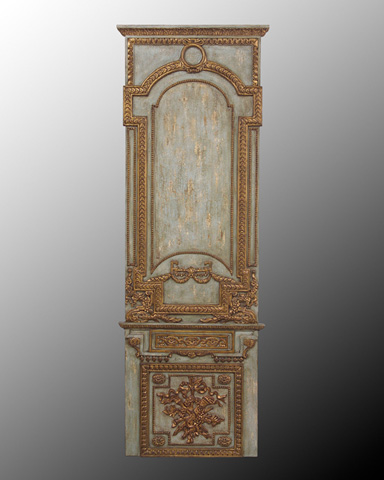John Richard Collection - Wood Panel with Gold Accents I - GBG-0453A
