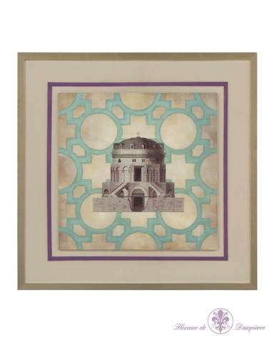 John Richard Collection - Trellis Geometry Architecture III - GBG-0698C