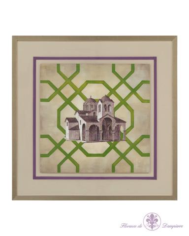 John Richard Collection - Trellis Geometry Architecture IV - GBG-0698D