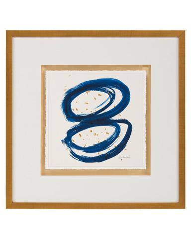 John Richard Collection - Dyann Gunter's Blue and Gold I - GBG-1055A