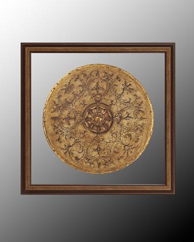 John Richard Collection - Black and Tan Medallion II - GRF-4997B