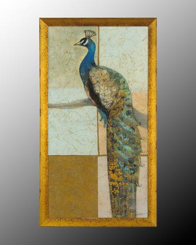 John Richard Collection - Gilded Peacock II - GRF-5042B