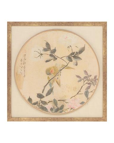 John Richard Collection - Oriental Bird Silk I - GRF-5386A